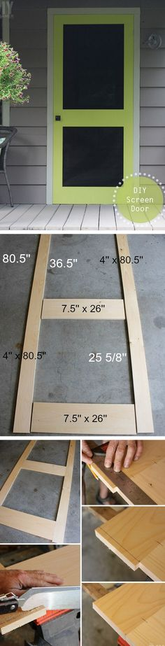 Check out the tutorial how to make DIY screen door @istandarddesign