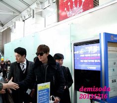16.12.2013 Lee Min ho at Incheon Airport for Innisfree Fiesta in Singapore