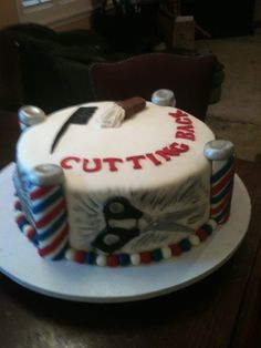 Retirement barber cake - this was a retirement cake for a barber.