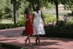 Pin for Later: Every Girl Has This Summer Dress, But Michelle Obama's Is Most Sophisticated