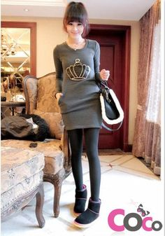 http://www.coco-fashion.com/Grey-Long-Sleeves-Fall-Winter-2013-Long-Sleeved-Blouse-with-Crown-p18142.html