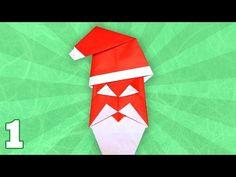 Felicitare cu Moș Crăciun origami