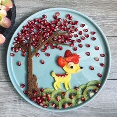 I was inspired by a similar work of art yesterday and – Food Carving Ideas - Obst Cute Snacks, Cute Food, Fruit Plate, Fruit Art, Deco Fruit, Creative Food Art, Food Art For Kids, Food Carving, Food Garnishes