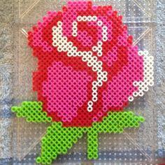 Rose perler beads by mer_mer_cat