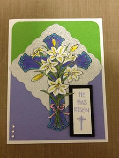 Photo Scraps Tina Northwoods Rubber Stamps Easter Card Class 3/24/2013