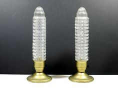 The glass shade hasa skyscraper or torpedo. glass shade, metal base, on - off switch is. Glass Table Lamp, Lamp, Glass Shades, Home Decor Items, Glass, Art Deco Lamps, Home Decor, Vintage, Cool Lamps