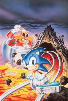 The Genesis release of Sonic Spinball's cover artwork kept the game-style Robotnik, along with the harsher lines around Sonic's face. For the Game Gear and Master Systems version, which came out...