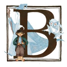 B is for Bilbo Baggins. My alphabet of children's fantasy book characters continues!