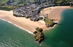 A fantastic aerial view of our beautiful Tenby town and coastline