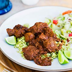 EASY LAMB BIRRIA The deep flavor in this long-braised lamb dish belies the minimal labor it takes to make it. You don't even need to brown the lamb. Lamb Recipes, Wine Recipes, Mexican Food Recipes, Cooking Recipes, Ethnic Recipes, Oven Cooking, Cooking Ideas, Meat Recipes, Best Dutch Oven