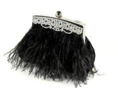 Gorgeous black ostrich feathers.