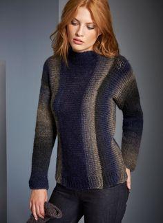 Lana Grossa PULLI MIT STEHKRAGEN Super Color/Silkhair - FILATI No. 52 (Herbst/Winter 2016/17) - Modell 92 | FILATI.cc WebShop