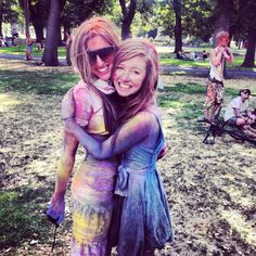 Cecilia and I at the colour festival in Melbourne. Great music, beautiful people and buckets of fun! Buckets, Melbourne, Rave, Beautiful People, Wanderlust, Colour, Adventure, Music, Fun