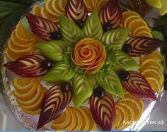 Красивая нарезка из фруктов фото в домашних условиях