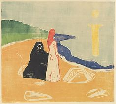 Edvard Munch - Two Women by the Shore