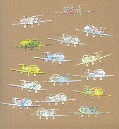 Map and Atlases Die Cuts - Airplanes on Etsy, $2.05