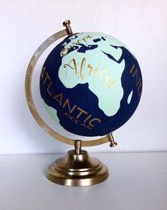 Hand Painted Customizable Wanderlust Travel Globe by NewlyScripted