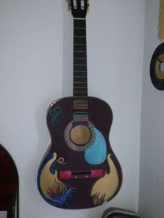 Turn An Old Guitar Into Art Project I Was Just Playing With My New