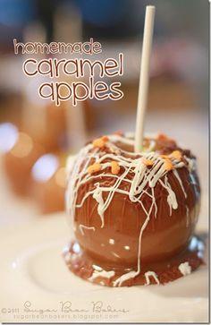 Great Caramel Apple tutorial from Sugar Bean Bakers