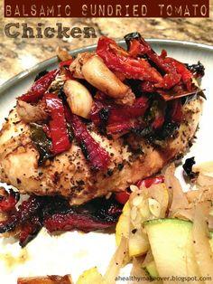 Balsamic Sundried Tomato Chicken - KTJ Weighing In