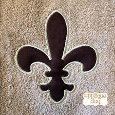 Fleur de Lis New Orleans Saints Digital Applique by AppliqueDay