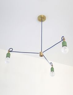 E.H. Three Light large ceiling fixture in green glazed ceramic white finished brass and  sc 1 st  Pinterest & ROSIE LI | Lighting Designer | Brooklyn NY | Lighting | Pinterest ... azcodes.com