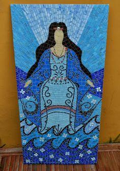 Trabalhos em Mosaico: Iemanja Rainha do Mar