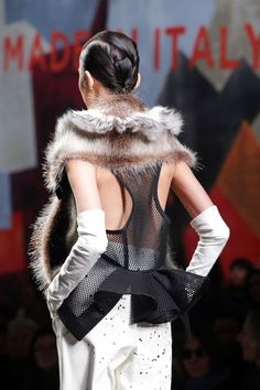 This season, dare mixing a little mesh and fur with this Fendi Fall/Winter 2014-15 look. For more Fendi fashion, visit http://balharbourshops.com/
