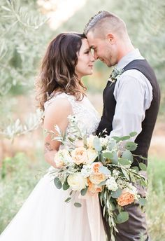 Elegant Ivory and Blush Olive Mill Wedding - Fab You Bliss