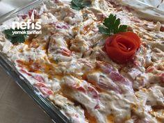 Erişteli Tavuk Salatası Potato Salad, Salads, Potatoes, Meat, Chicken, Ethnic Recipes, Food, Balcony, Potato
