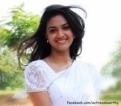 Keerthi Suresh in White Saree