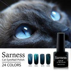 Sarness Sorte Olho de Gato UV Gel Unha Gel Camaleão Laca Semi Permanente Gel Verniz UV LED Unha Polonês Esmalte Magnético pintura