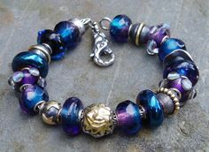 Indigo Sky. A stunning Trollbeads bracelet from a great collector on Trollbeads Gallery Forum!  Join us for inspiration!!