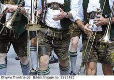 traditionellen kurzen Lederhosen, Oberbayern, Bayern