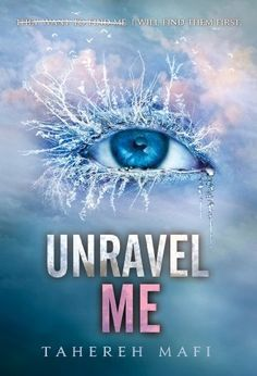 Unravel Me (Shatter Me 2) by Tahereh Mafi. Juliette is still haunted by her deadly touch. But now that she has teamed up with other rebels with powers of their own, she'll be able to fight back against The Reestablishment to save her broken world. With the help of these new allies, she'll also finally learn the secret behind Adam's—and Warner's—immunity to her killer skin.