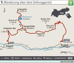 Hoch über dem Osttiroler Defereggental verläuft der herrliche Alpenblumenweg… Post Bus, Der Bus, Map, Austria, Outdoor, Vacation, Travel Advice, Hiking, Outdoors