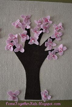 Handprint Trees Wrapped Canvas - Pinned by @PediaStaff – Please visit http://ht.ly/63sNt for all (hundreds of) our pediatric therapy pins