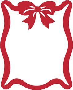 Silhouette Online Store - View Design #22456: ribbon bow frame portrait