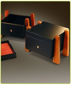 Black box with nice wooden accents