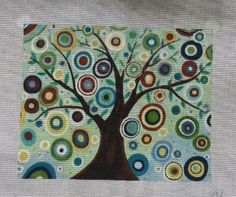 click here to view larger image of Blooming Tree (hand painted canvases)
