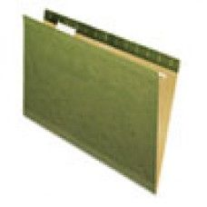 Desk Supplies>Desk Set / Conference Room Set>Holders> Files & Letter holders: X-Ray Hanging File Folders, No Tabs, Legal, Standard Green, 25/Box