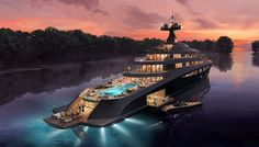 Radiance, the 361-foot superyacht concept from Claydon Reeves