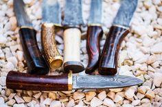 Beautiful handmade damascus knives