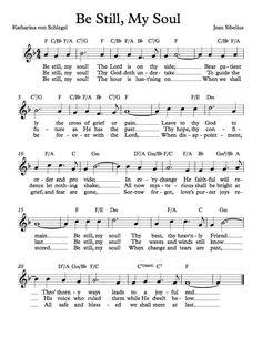 Free Sheet Music - Free Lead Sheet - Be Still, My Soul by Jean Sibelius