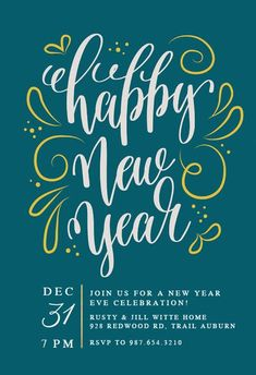 72 best new year s eve invitations template images on pinterest