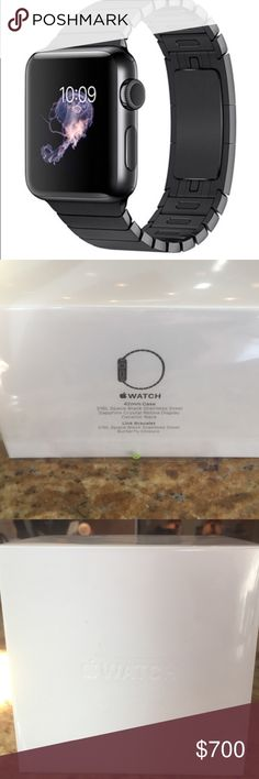 BRAND NEW--Apple Watch 42 mm. Retail $1100--$700 Still in the box! 316L Space Black Stainless Steel, Sapphire Crystal Retina Display, Ceramic Black.  Make someone's Christmas🎄 Accessories Watches