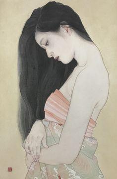 Otake Ayana aka Ayana Otake aka 大竹彩奈 (Japanese, b. 1981, Saitama Prefecture, Japan) - またたき, 2017 Paintings: Japanese Color on Paper