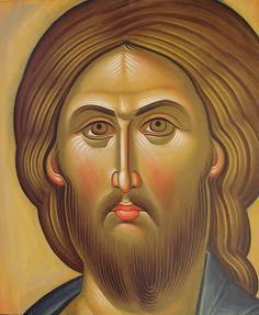 Christ contemporary icon by Maria Panayi of Cyprus Ignatius Of Antioch, St Ignatius, Christian Drawings, Christian Art, Byzantine Art, Byzantine Icons, Religious Icons, Religious Art, Christ Pantocrator