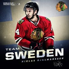 Niklas Hjalmarsson will represent Team Sweden in the 2016 World Cup of Hockey! Blackhawks Hockey, Hockey Teams, Chicago Blackhawks, Ice Hockey, Nhl, Hershey Bears, Hockey World Cup, Hockey Quotes, Stanley Cup Champions