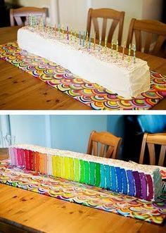 lovin' the rainbow cakes